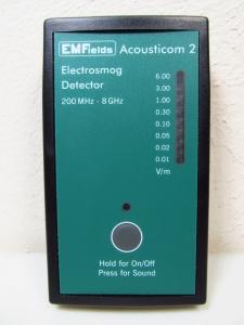 radio frequency emf meter acousticom 2 electrosmog detector